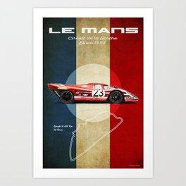 Le Mans Vintage Salzburg Art Print