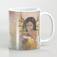 lucy Mugs featuring Lucy by Melusine Aisling Art