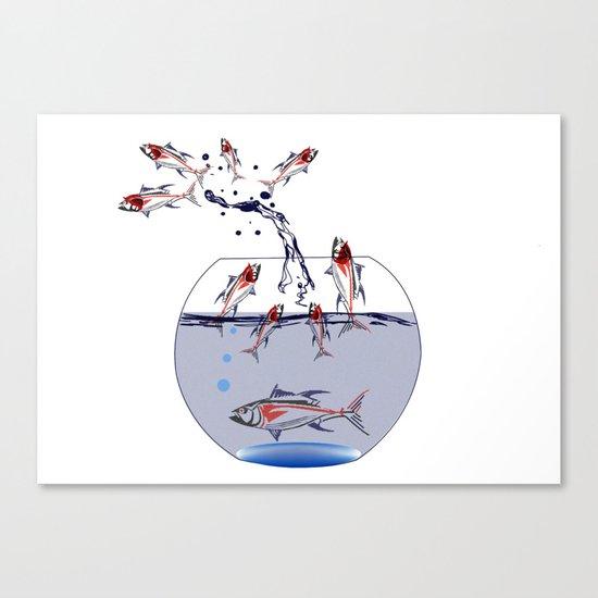 jumping fish Canvas Print
