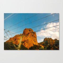 Through the Train Window Canvas Print