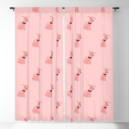 PINK CHEEKY DOG Blackout Curtain