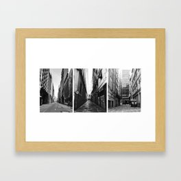 3 views from the town Framed Art Print