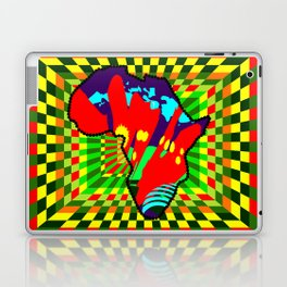 Colorful African Checkered Abstract Print Laptop & iPad Skin