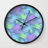 grass Wall Clocks featuring Grass by Emma Vallee Callinan