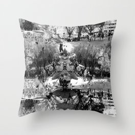 Summer space, smelting selves, simmer shimmers. [extra, 8, grayscale version] Throw Pillow