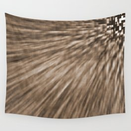 Taupe Pixel Wind Wall Tapestry