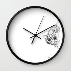 A Sketch :: A Sugar Glider Named Loki Wall Clock
