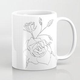 Minimalist Rose Coffee Mug