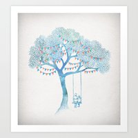 run Art Prints featuring The Start of Something by David Fleck