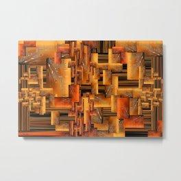Apricot Meld Metal Print