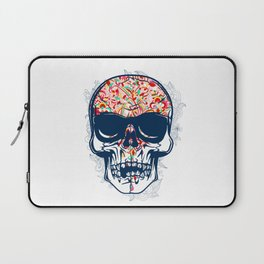 Dead Skull Zombie with Brain Laptop Sleeve