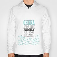lilo and stitch Hoodies featuring ohana means family.. lilo and stitch disney...  by studiomarshallarts