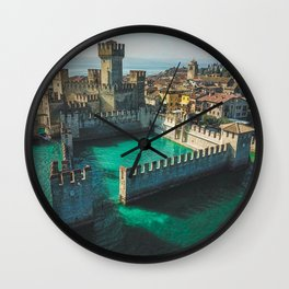 Catle in the water Wall Clock