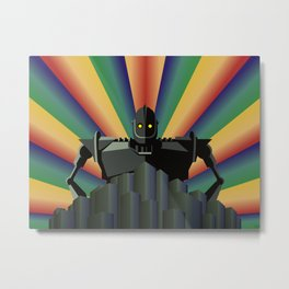 The Iron Giant - digital version Metal Print