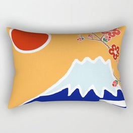 Mount Fuji and Sun Rise Rectangular Pillow