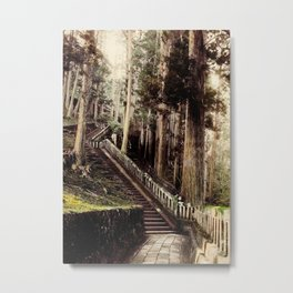 Stone Steps - Japan Nikko Metal Print