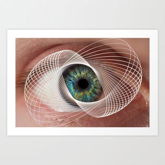 Mobius Eye Seeing All, Infinite Vision Art Print