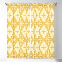 Mid Century Modern Atomic Triangle Pattern 710 Yellow on Yellow Blackout Curtain