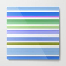 nice stripes blue Metal Print
