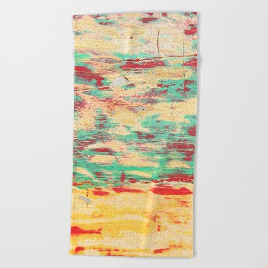 Wooden Pattern Beach Towel