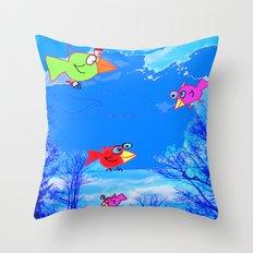 Happy Bird Day! Throw Pillow