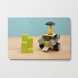 Wall - E at Work Metal Print