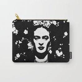 Black 'n white Frida Carry-All Pouch