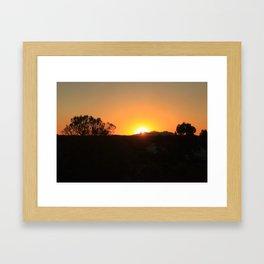 Red Uluru Framed Art Print