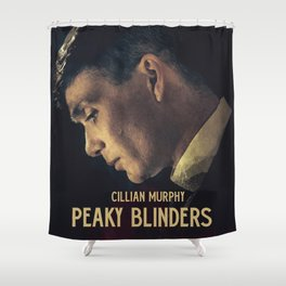 Peaky Blinders, Cillian Murphy, Thomas Shelby, BBC Tv series, gangster family Shower Curtain