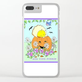 """ Punkin' Hugs "" Clear iPhone Case"