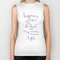 dumbledore Biker Tanks featuring Happiness can be found by Earthlightened