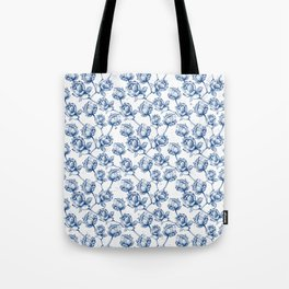 Lotus Pattern Tote Bag