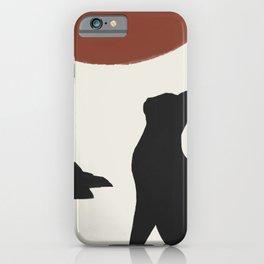 Hidden cat 18 minimalist landscape big sun iPhone Case