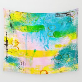 Abstract with Circles Wall Tapestry