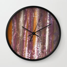 Abstract striped painted Wall Clock