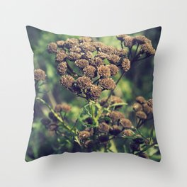 The Brown Flower Throw Pillow