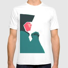 Untitled digital drawing White MEDIUM Mens Fitted Tee
