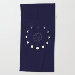 Moon Phases Beach Towel