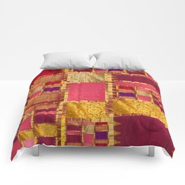 """""""Exotic fabric, ethnic and bohemian style, patches"""" Comforters"""