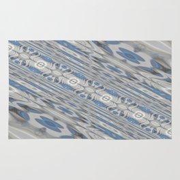 Slanted Blue Corridor Rug