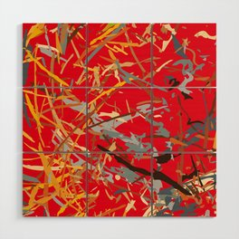 chaos structure Wood Wall Art