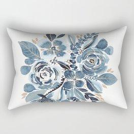 Indigo & gold floral 4 Rectangular Pillow