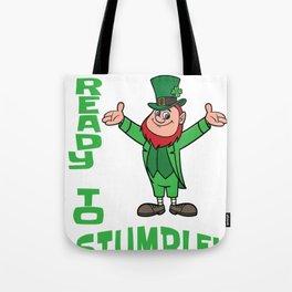 St. Patrick's Day Ready to Stumble Leprechaun Tote Bag