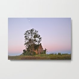 Moon Over Sheffield House Metal Print