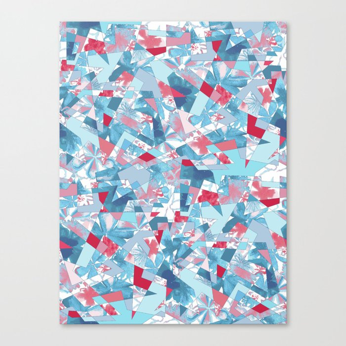 Shattered Floral Canvas Print