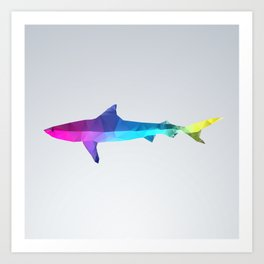 Glass Animal Series - Shark Art Print