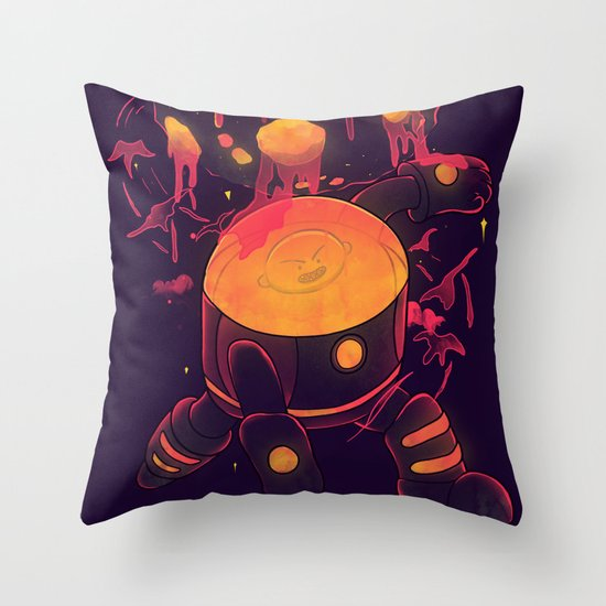 Super Heroic Pose Throw Pillow