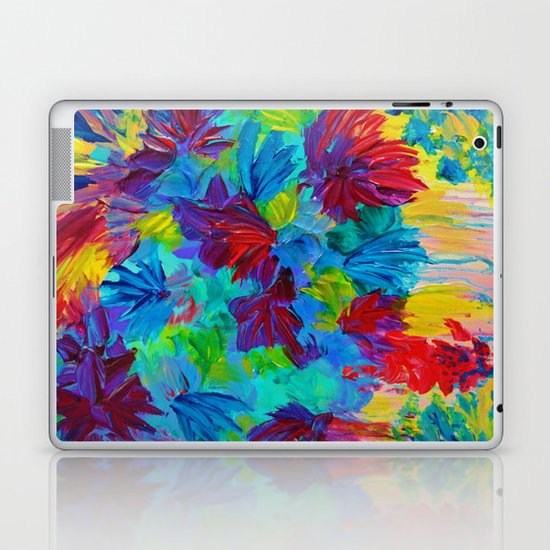 TUTTI FRUTTI - Fruit Punch Floral Bouquet Flowers Bright Bold Colorful Painting Romantic Rainbow Laptop & iPad Skin