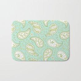Pretty Paisley - Aqua/Green Bath Mat