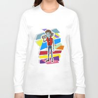 80s Long Sleeve T-shirts featuring 80s Vampire by JudithzzYuko